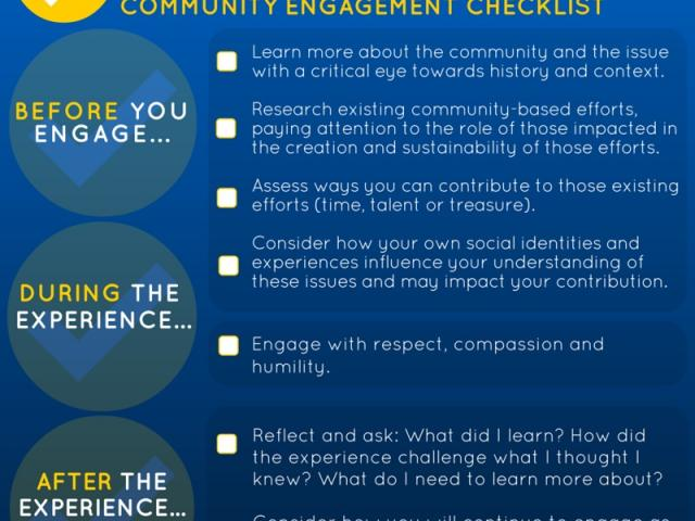 community engagement checklist