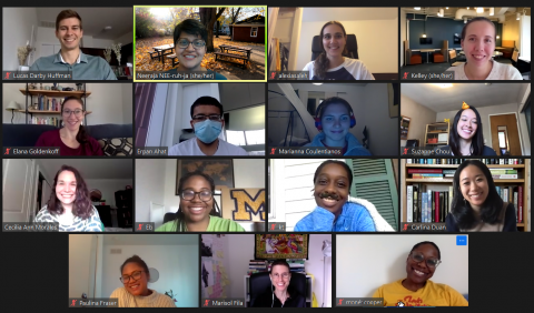 Zoom screenshot of 2020-21 Ginsberg Graduate Liaisons