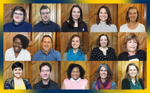 mosaic of Ginsberg staff head shots