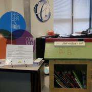 Little Free Library at the Career Center