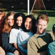 old photo of students