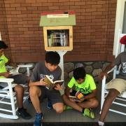 YMCA Youth Corps at the Little Free Library