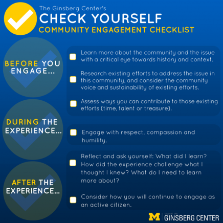Ginsberg Center Community Engagement Checklist