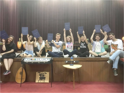 Kosovan students who participated in Playwriting for Peace, U-M's 2019 winning Kathryn Davis Project for Peace